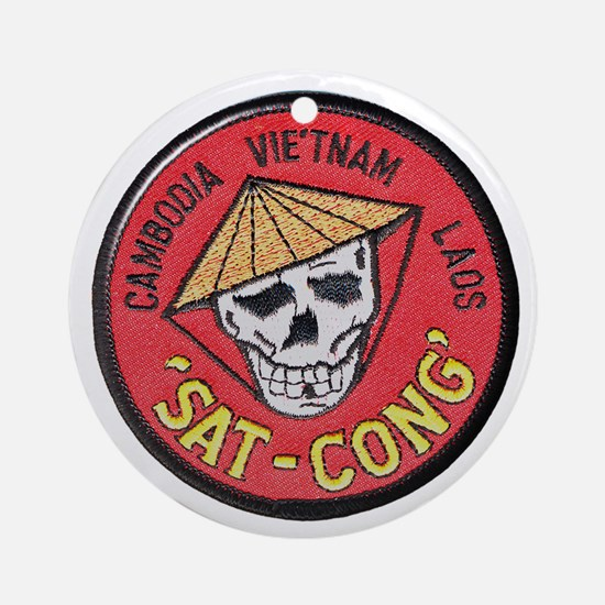 Sat-Cong Kill Communists Ornament (Round)