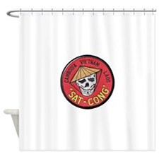 Sat-Cong Kill Communists Shower Curtain