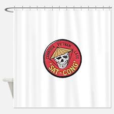 Sat-Cong Kill Communists Shower Curtain