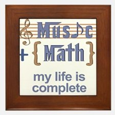 music and math Framed Tile