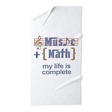 music and math Beach Towel