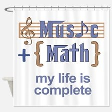music and math Shower Curtain