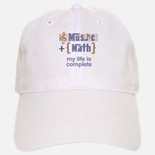 music and math Baseball Baseball Baseball Cap