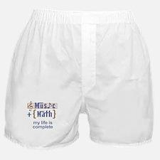 music and math Boxer Shorts