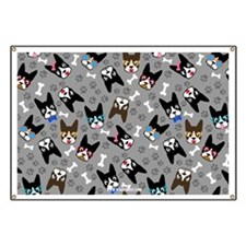 cute boston terrier dog Banner