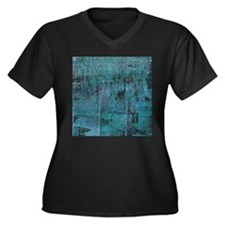 Blue rustic wood square textures Plus Size T-Shirt