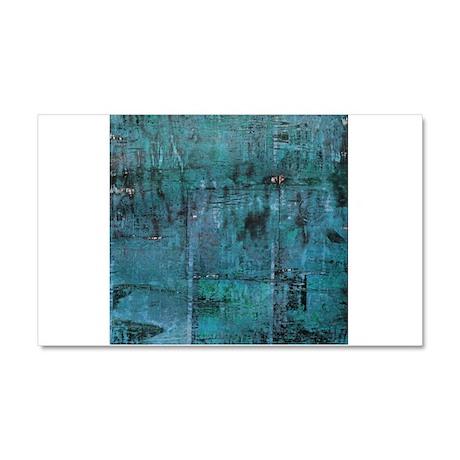 Blue rustic wood square textures Car Magnet 20 x 1
