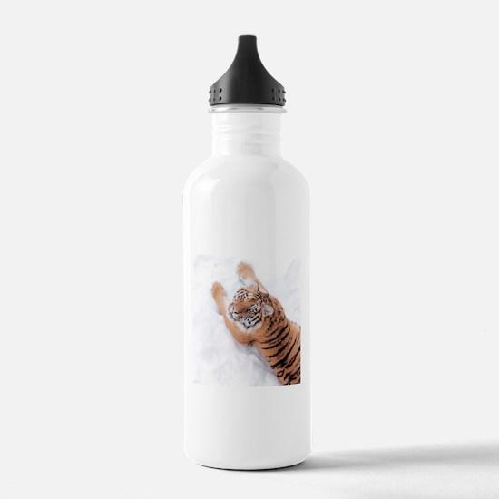 Snow Tiger Water Bottle