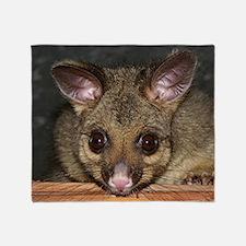 Possum with big eyes Throw Blanket