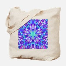 Psychedelic Blue and Pink Star Tote Bag