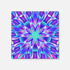 """Psychedelic Blue and Pink S Square Sticker 3"""" x 3"""""""