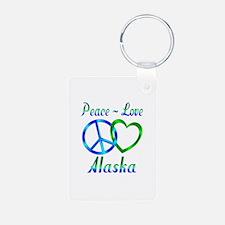 Peace Love Alaska Keychains