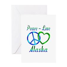 Peace Love Alaska Greeting Card
