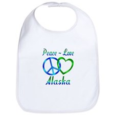 Peace Love Alaska Bib
