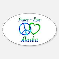 Peace Love Alaska Decal