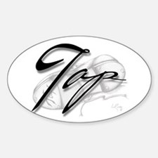 Black Tap on Shoe Rectangle Decal