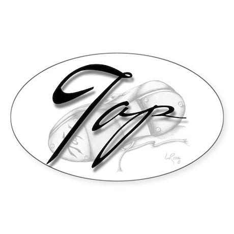 Black Tap on Shoe Rectangle Sticker