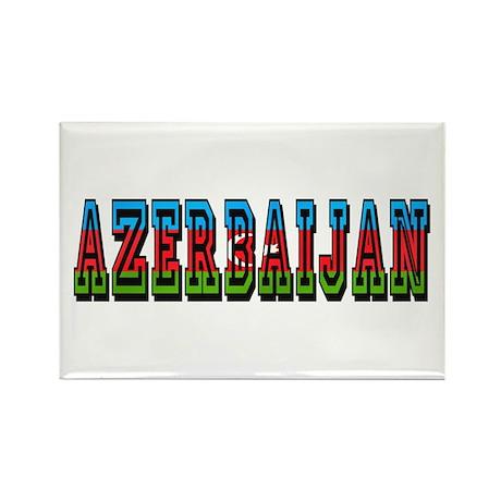 Azerbaijan Rectangle Magnet (100 pack)