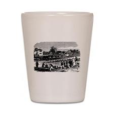 Vintage English Regatta Shot Glass