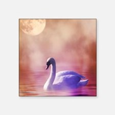 "Swan Art Square Sticker 3"" x 3"""