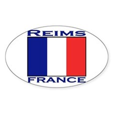 Reims, France Oval Decal