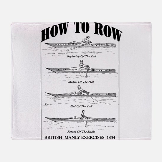 Vintage - How to Row Throw Blanket