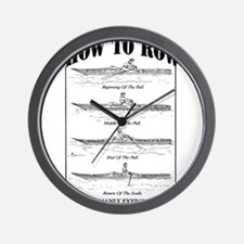 Vintage - How to Row Wall Clock
