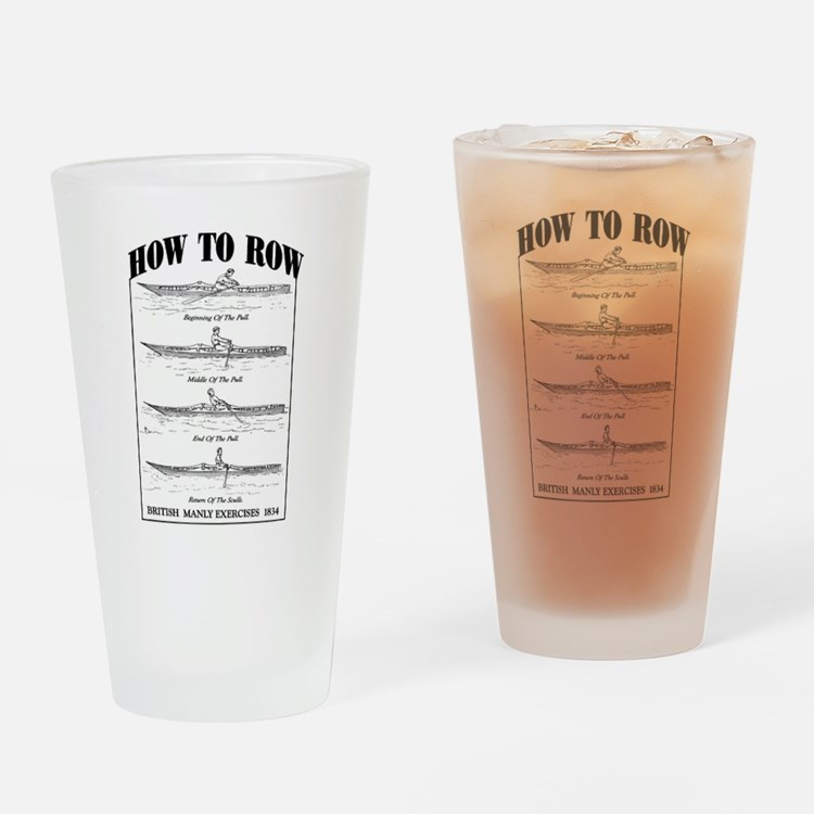 Vintage - How to Row Drinking Glass