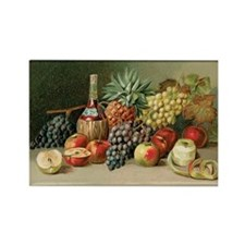 Vintage Still Life of Fruit and W Rectangle Magnet