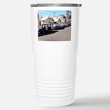 Golf Cart Row Travel Mug