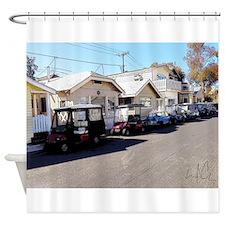 Golf Cart Row Shower Curtain