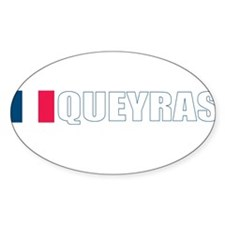 Queyras, France Oval Decal