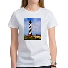 Cape Hatteras Lighthouse Poster Text Outer Banks T