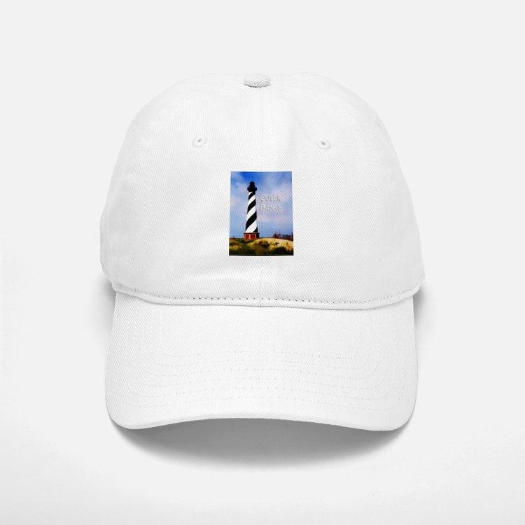 Baseball Baseball Cape Hatteras Lighthouse Poster Text Outer Banks B