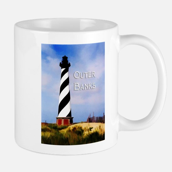 Cape Hatteras Lighthouse Poster Text Outer Banks M