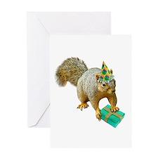 Birthday Squirrel Greeting Card