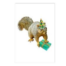 Birthday Squirrel Postcards (Package of 8)