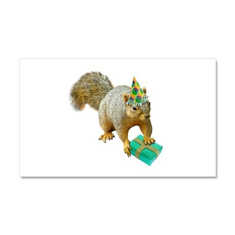 Birthday Squirrel Car Magnet 20 x 12