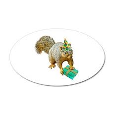 Birthday Squirrel Wall Decal