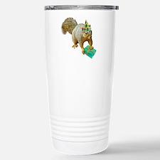 Birthday Squirrel Stainless Steel Travel Mug