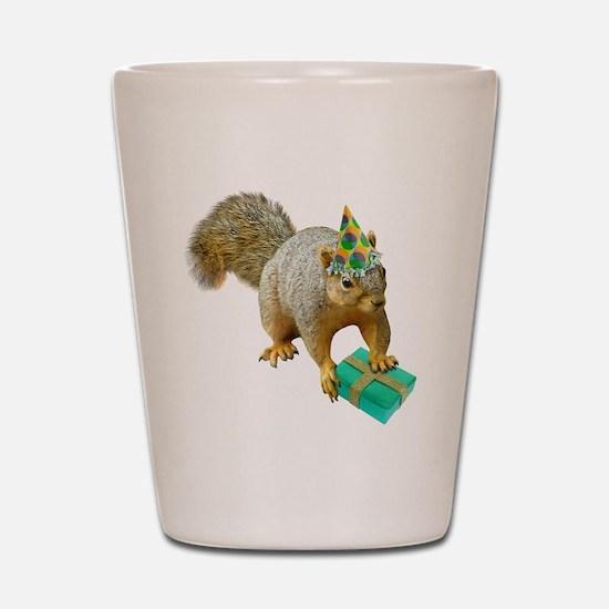 Birthday Squirrel Shot Glass