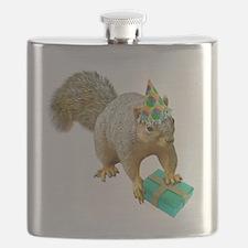 Birthday Squirrel Flask