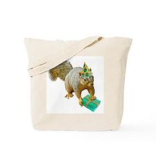 Birthday Squirrel Tote Bag