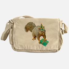 Birthday Squirrel Messenger Bag