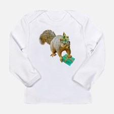Birthday Squirrel Long Sleeve Infant T-Shirt