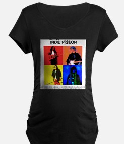 INDIE PIGEON Poster Maternity T-Shirt