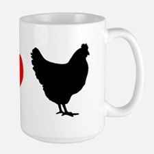 I Heart Chickens Mug