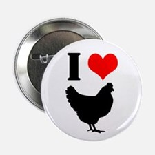 """I Heart My Chickens 2.25&Quot; 2.25"""" Button"""