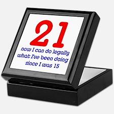 21st Birthday Keepsake Box