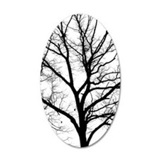 A one color tree filtered ph Wall Decal